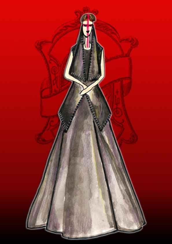 gareth pugh, fashion illustration by bonnie.