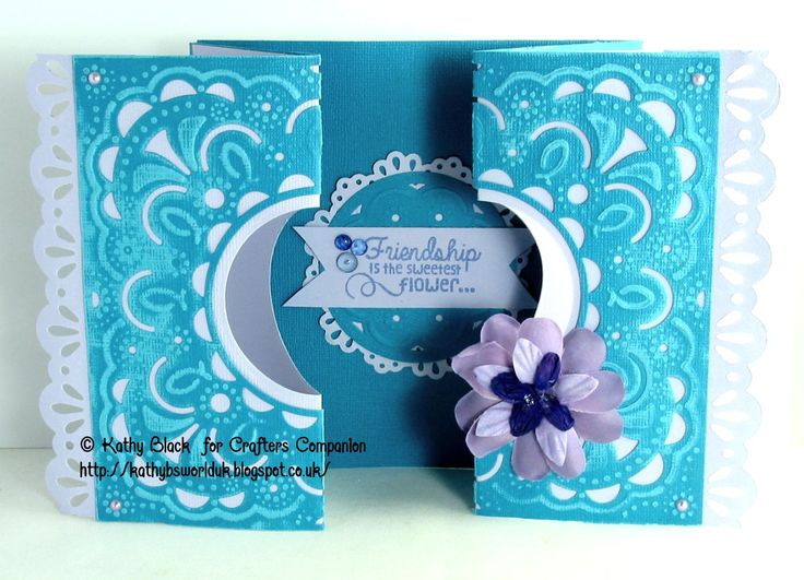 Crafters Companion: Create a Card Extravagance  Die'Sire Sentimental Stamps ~ Nature  Die'Sire Lace Border Die'Sire Circle Doily (small)