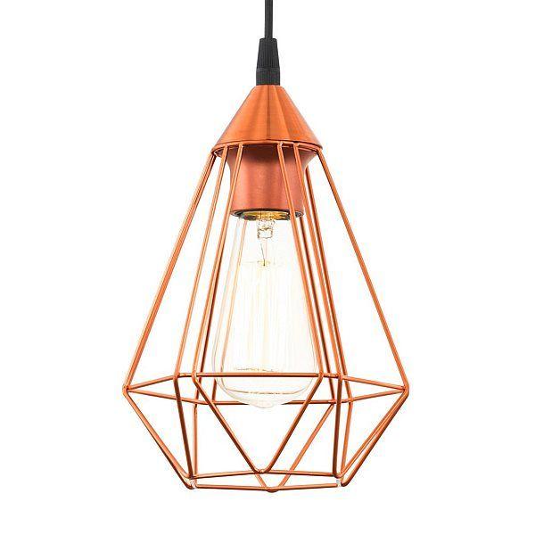 Eglo Tarbes Hanglamp Koper - 17,5 cm