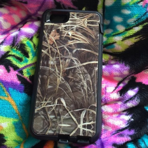 iPhone Case Camo 6 Plus Not an otterbox but similar, hard inner shell, soft outer. Nice no trades Other