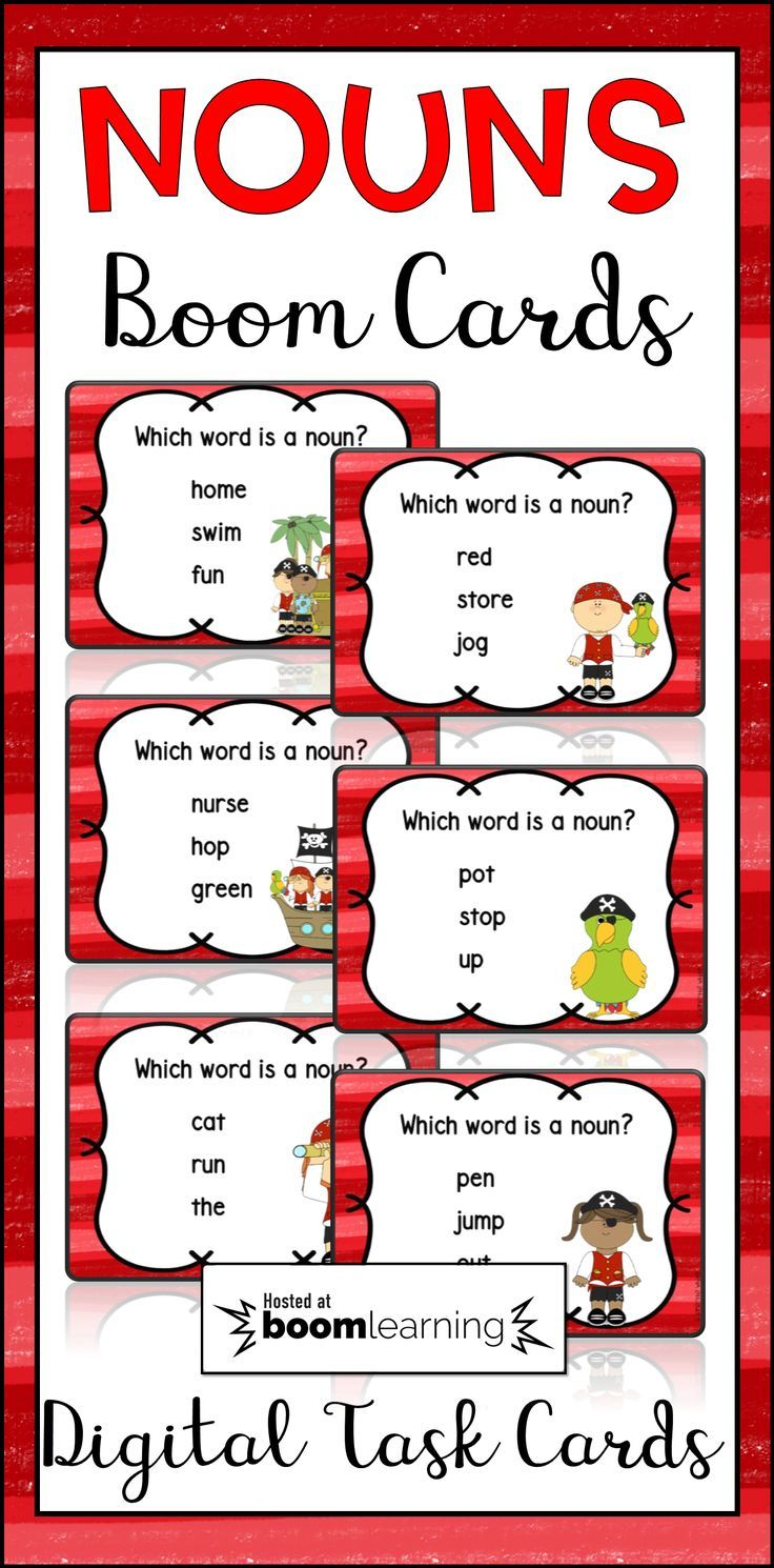 Digital Task Cards!  These noun task cards are paperless! They are part of the Boom Learning platform. Students just need a device and they can complete these task cards online. This set includes 24 task cards that will allow your students to practice identifying nouns. BOOM Cards are fun, engaging, effective, not to mention self-checking, and easy to use. No printing, cutting, or laminating.  Just assign the decks to your students and you are ready to go. Click to learn more!