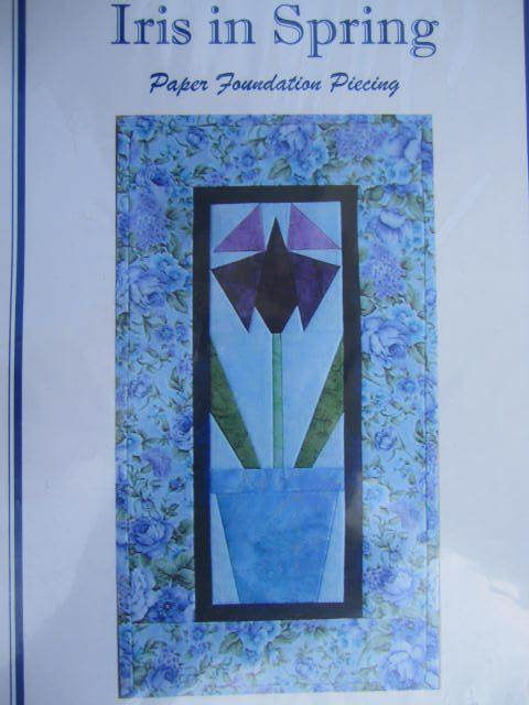 See Sally Sew-Patterns For Less - Iris in Spring Floral Quilt Wall Hanging Paper Piercing Design Pattern PP101 , $7.00 (http://stores.seesallysew.com/iris-in-spring-floral-quilt-wall-hanging-paper-piercing-design-pattern-pp101/)
