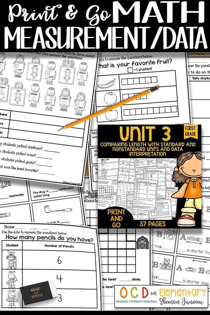 1st Grade Math Worksheets Graphing Measuring Print And Go Printables 1st Grade Math Worksheets Go Math 1st Grade Math [ 1100 x 735 Pixel ]