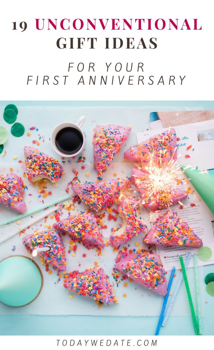 19 unconventionall gift ideas for your first anniversary