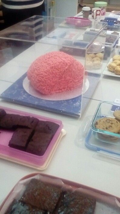 """Brain Cake""  created for stroke week QLD Health"