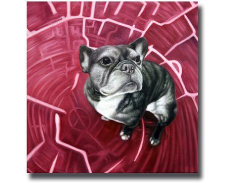 Unsere vierbeinigen Freunde verewigt in Öl!  The Cool Pug - choose your preferred background. on #paintify.de #kunst #gemälde #ölgemälde