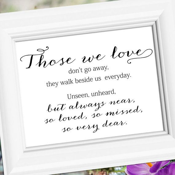Memorial Table Place Card Designs