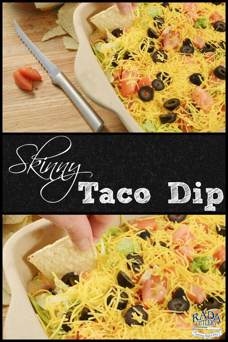 Skinny Taco Dip. Get all the taste and hardly any of the calories with this incredible homemade Skinny Taco Dip! A guilt free Super Bowl Dip. #Super