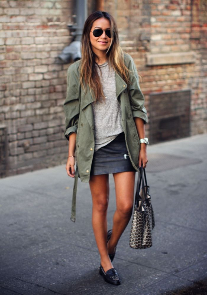 green cargo jacket <3 love this look