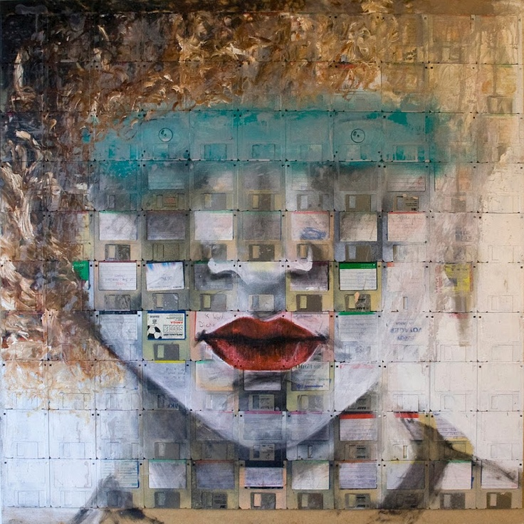 Nick Gentry Floppy Disk Paintings...WOW THIS IS AMAZING!