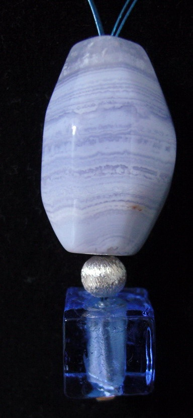 chalcedony, silver and venice glass