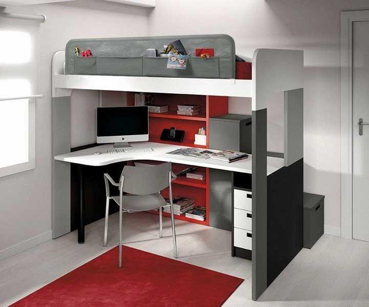 lit mezzanine bureau but