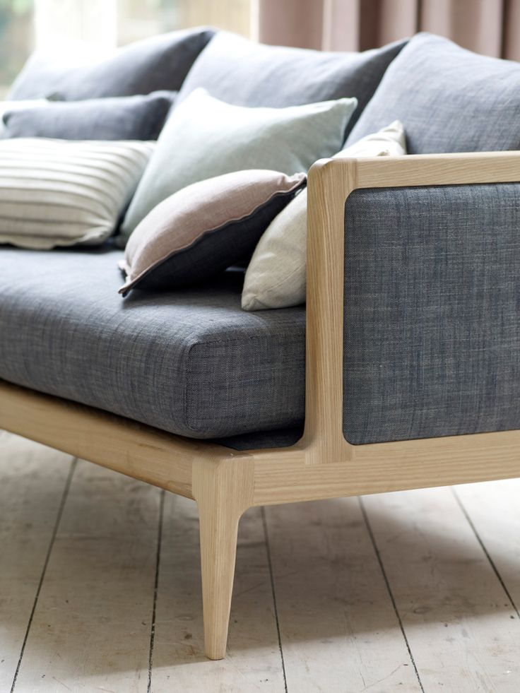 Details of frame sofa, 'Frame sofa ' available in many fabric and colour choices.