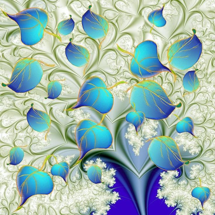 fractal art -leaves