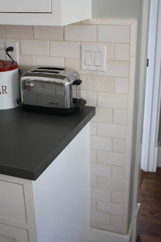 Kitchen Backsplash On One Wall