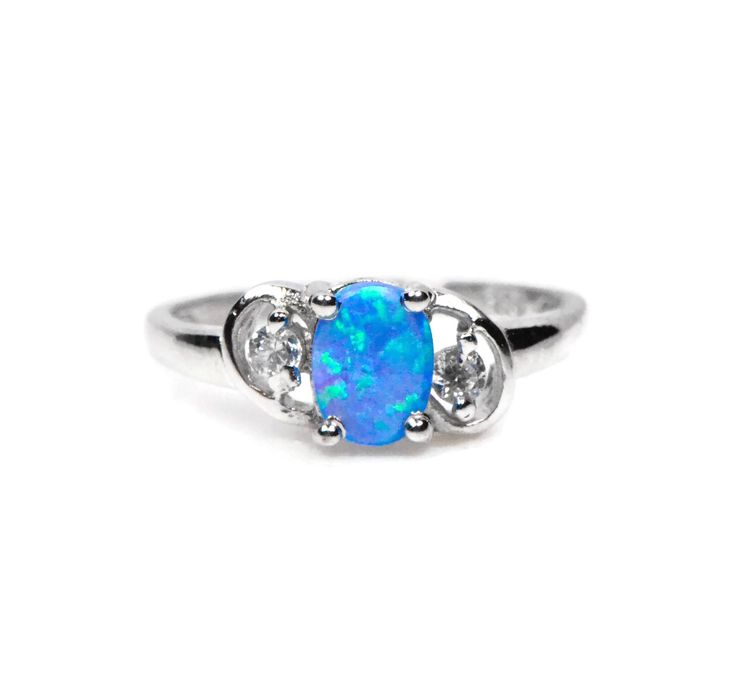 opal adorable women collections ship ring size cz october stock drop haimis rings birthstone white fashion fire jewelry