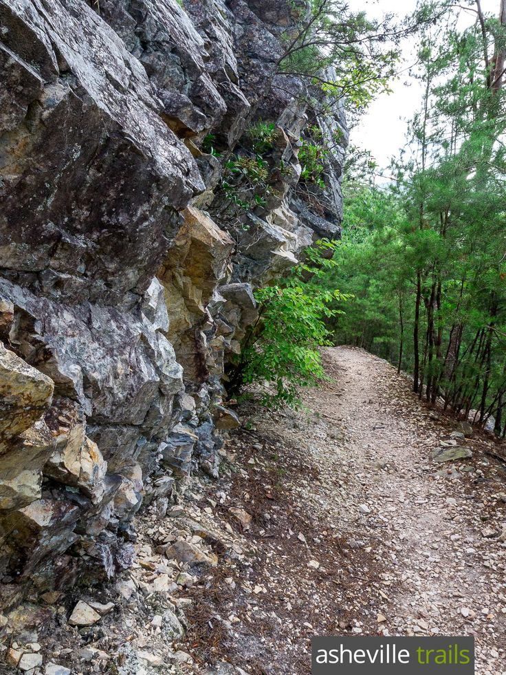 Hike the Appalachian Trail in Hot Springs, NC on the rocky banks of the French Broad River