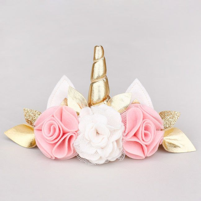 unicorn felt flower headband - Perfect for a unicorn birthday party