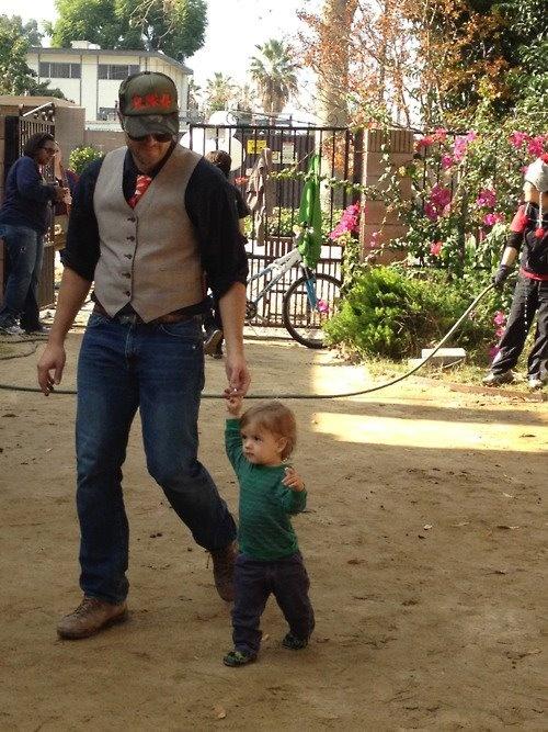 Misha and his son (With images) | Misha collins, Misha ...