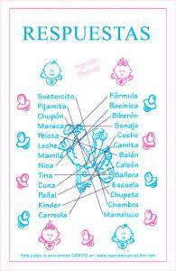 Juego de Baby Shower: Sinónimos y similares | Manualidades para Baby Shower