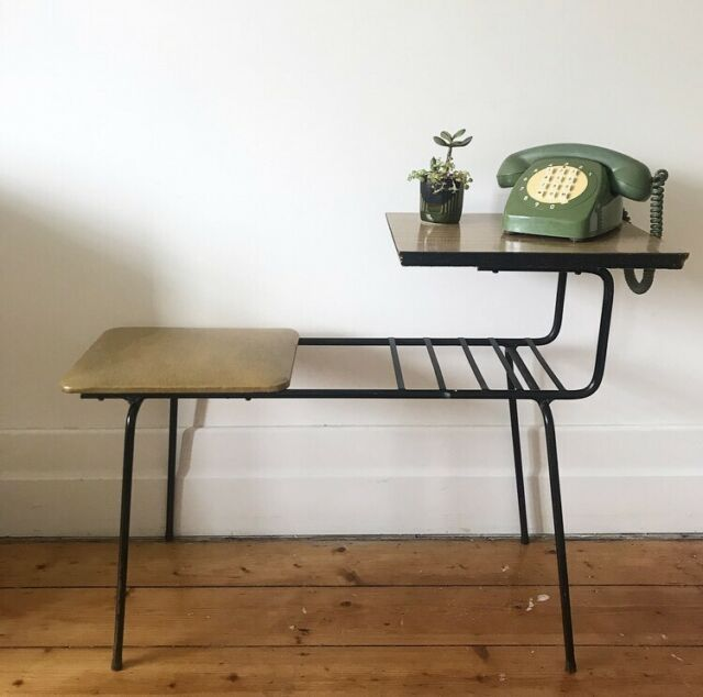 Vintage Telephone Table Hall Table 1960s Buffets Side Tables