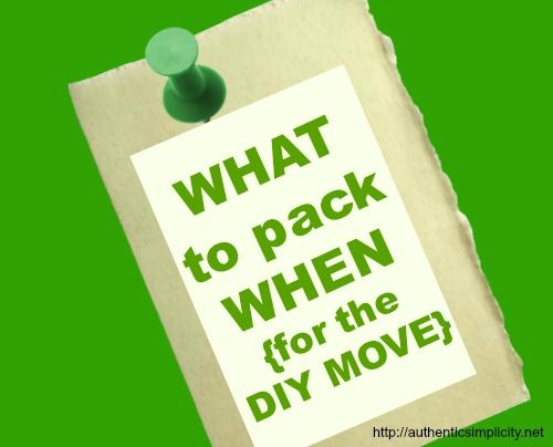 what to pack when