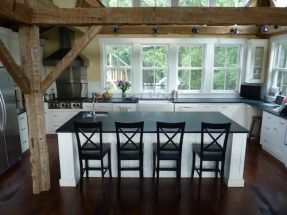 pictures of kitchens with lots of windows | rustic farmhouse kitchen! White lower cabinets only, lots of windows ...