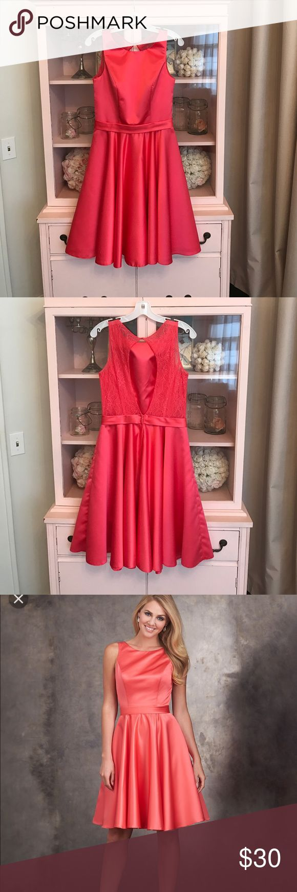 Allure prom bridesmaid formal evening Watermelon style #1422 fits like 8 Allure Dresses Prom