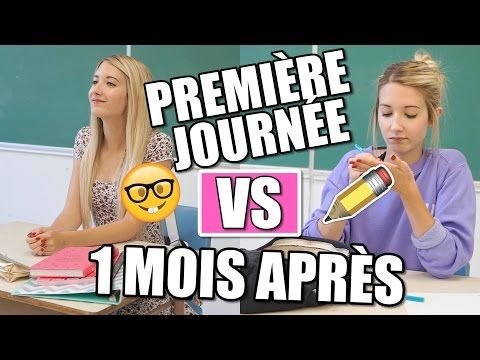 BACK TO SCHOOL | PREMIÈRE JOURNÉE VS 1 MOIS APRÈS - YouTube - good for hearing Québec accent, comparing approaches to school