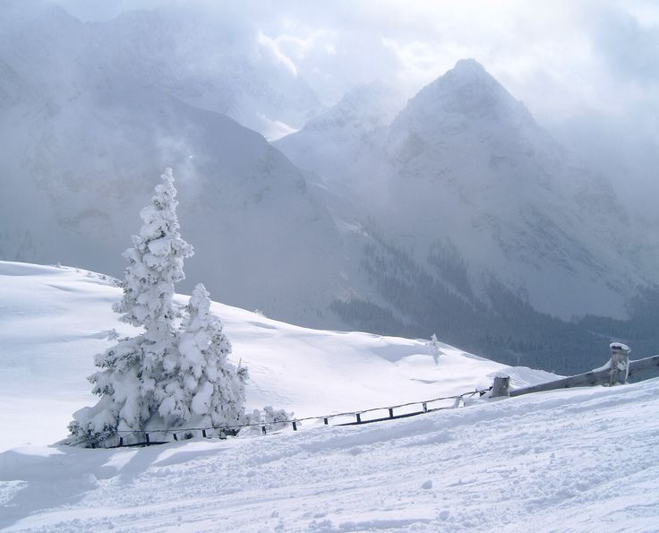 Skiing in Ehrwald, Austria