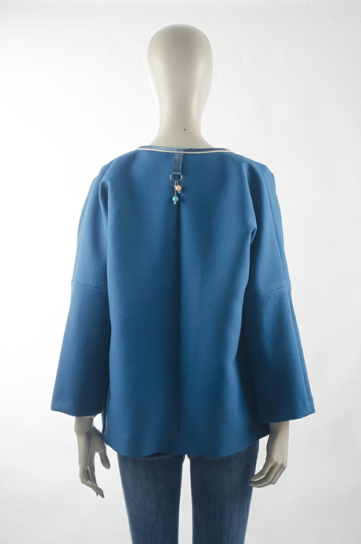 Blue Coat with Birds