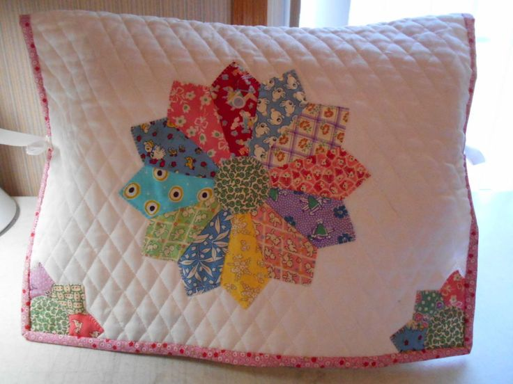 Sewing Machine Dust Cover Quilt Dresden Block Top * Reproduction Fabrics *