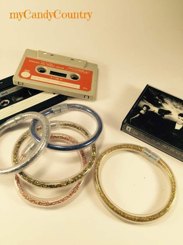 Bijoux fai-da-te: braccialetti in gomma stile anni 80