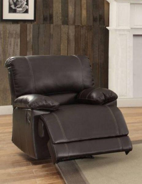 Cassville Dark Brown Bi-Cast Vinyl Reclining Chair