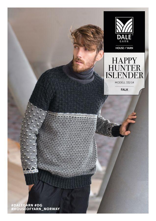 26f38152 DG332-14 HAPPY HUNTER ISLENDER | Herretøj | Sweaters, Men sweater