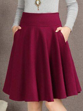 Corea una línea de Falda de la tela escocesa