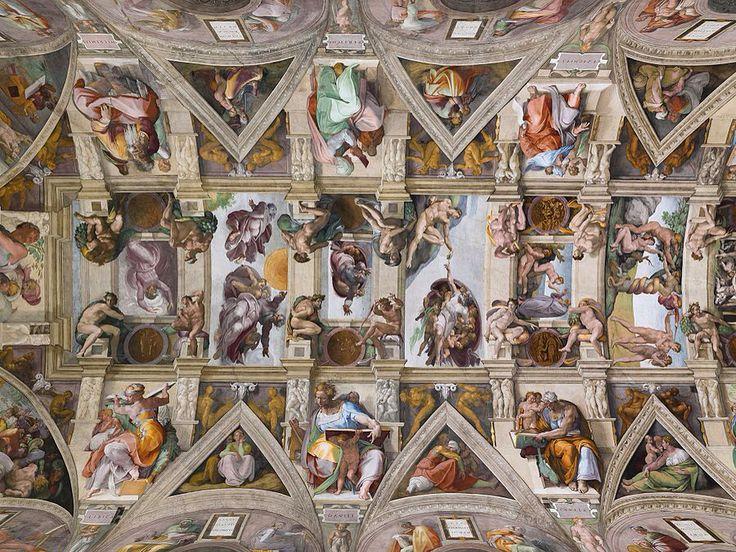 Bóveda de la capilla sixtina Miguel Ángel 1508