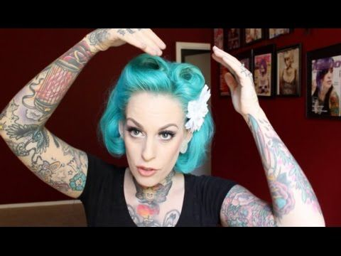 ▶ Victory Roll Pinup Hair with Kandy K - YouTube