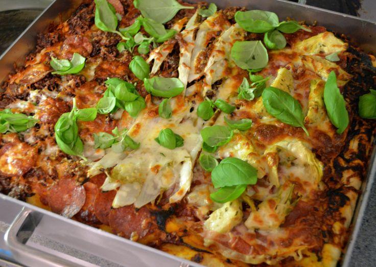 Gabriele Bonci -style Roman thick square pizza.