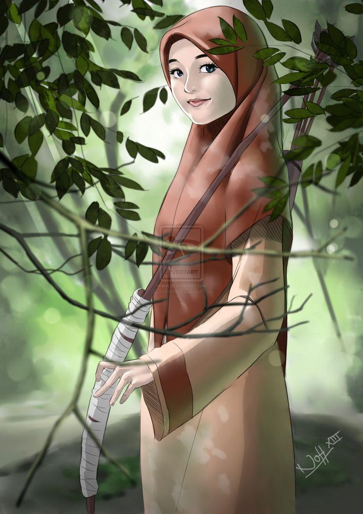Muslimah.Archer by kimimaro90.deviantart.com on @deviantART