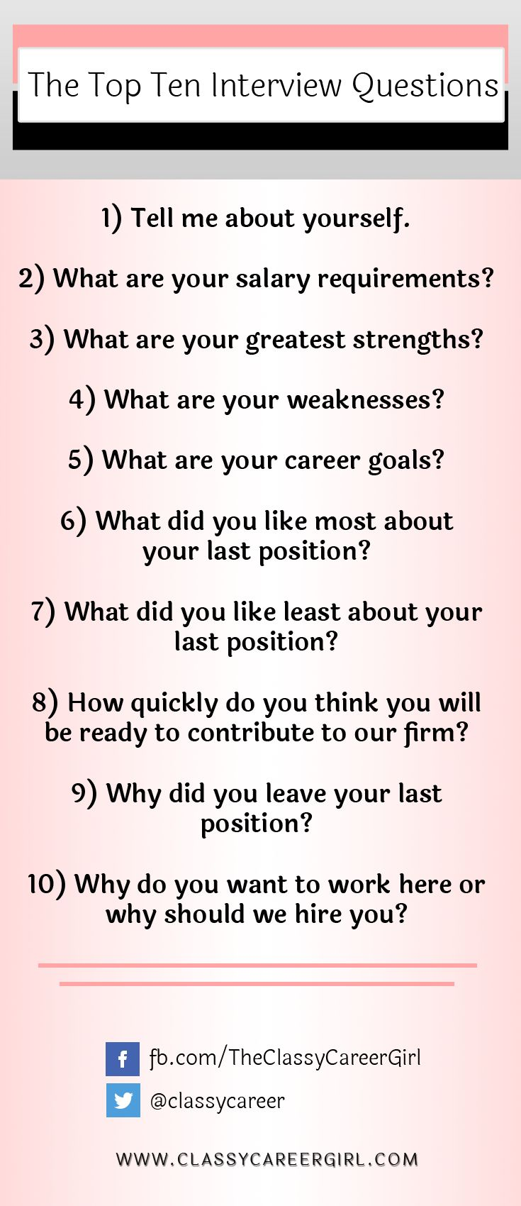 best images about interviewing advice tips how to answer the top ten most asked interview questions video