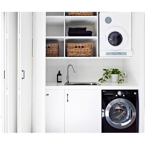 Learn how to maximise storage, floorspace and choose the best appliances for your laundry with this expert design advice.