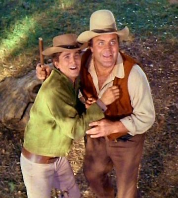 "Hoss & Joe in ""Bonanza""....one of the funniest episodes was ""Hoss and the Leprechauns""."