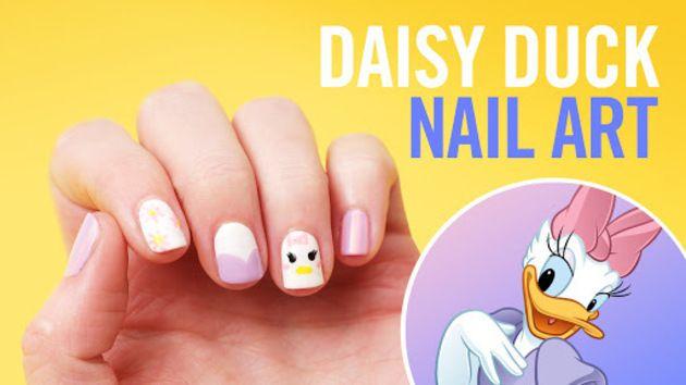 Daisy Duck Nail Art   TIPS   Disney Style