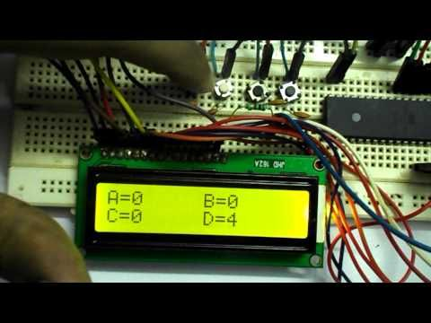 AVR Microcontroller Based Electronic Voting Machine (EVM) Project with Circuit Diagram and Code