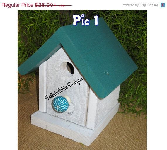 40% OFF TODAY Driftwood Collection Cottage style birdhouse, Cute colorful birdhouse, Beach Birdhouse, Nautical Birdhouse