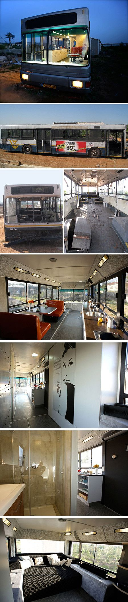 Two women(Tali Shaul, a psychotherapist and Hagit Morevski, an ecological pond water treatment specialis) living in Even Yehuda have come up with a creative solution to the Israeli housing crisis: they transformed an out-of-use public bus into a luxury living space.