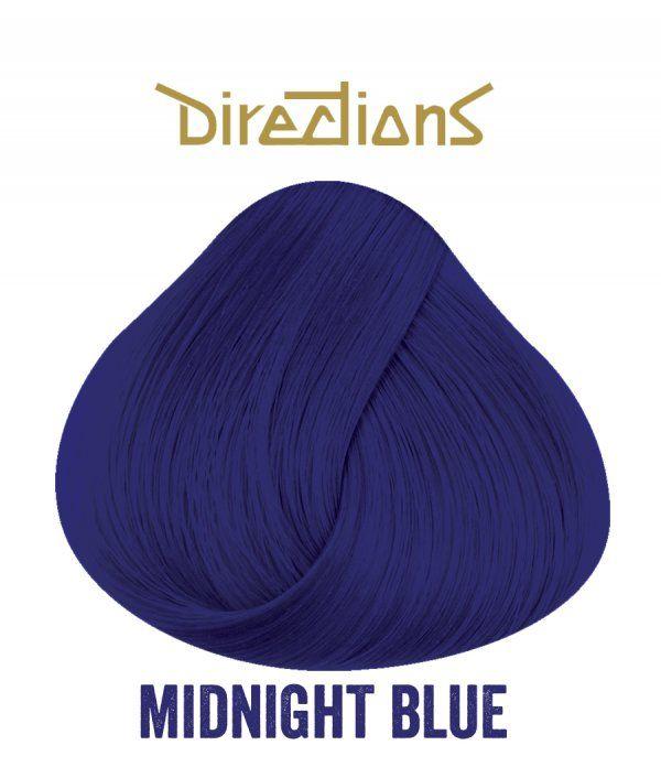 Couleur pour cheveux Directions La Riché. Coloration cheveux Midnight blue, bleu nuit. Coloration cheveux bleue Freaky Pink.