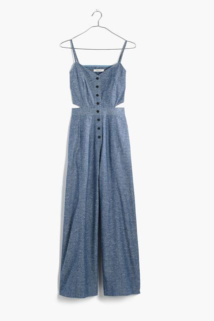 Wear this chambray jumpsuit with or without a tee underneath.Madewell Chambray Cutout Jumpsuit, $128, available at Madewell.  #refinery29 http://www.refinery29.com/2016/07/117800/madewell-new-arrivals-favorite-styles#slide-17