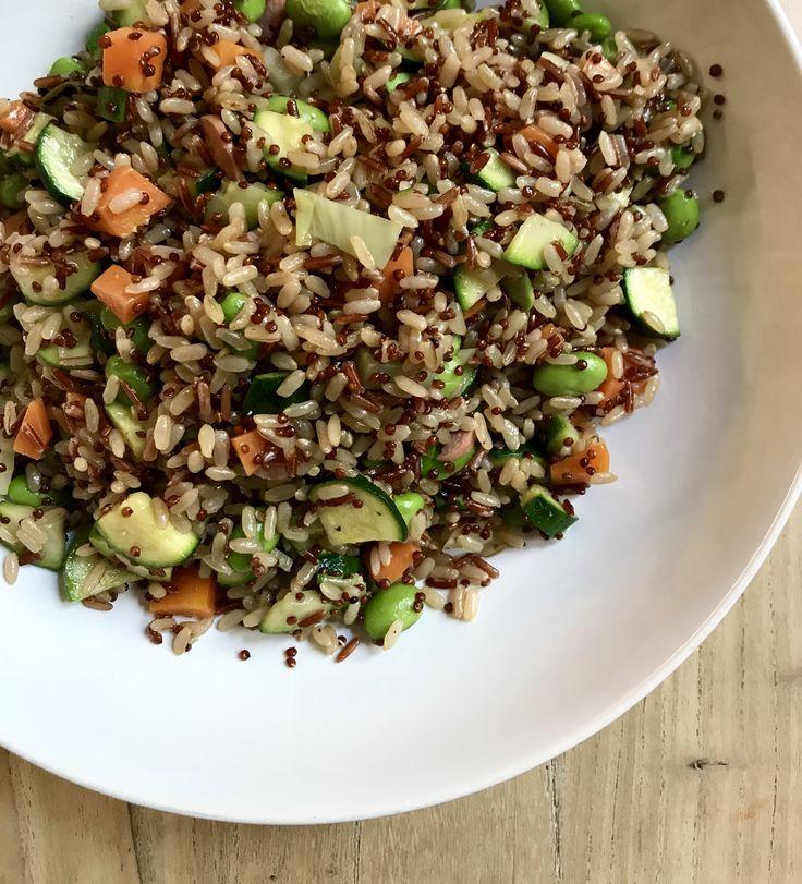 Riso bianco, rosso e quinoa con verdure saltate. - Chiara Maci